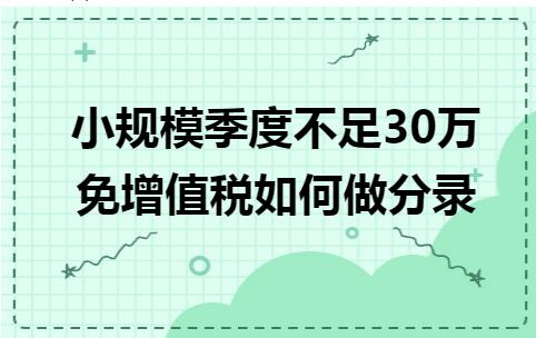 小微企业免征增值税如何做分录(季度不超30万)